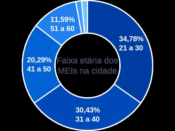 Faixa etária de MEIs na cidade de Rio da Conceição